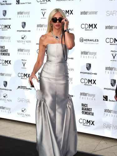 Amanda Cronin durante la fiesta benéfica en Monaco