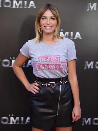 La periodista Flora González en la premiere de la Momia