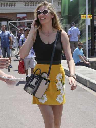 Kate Upton en el gp de F1 en Monaco