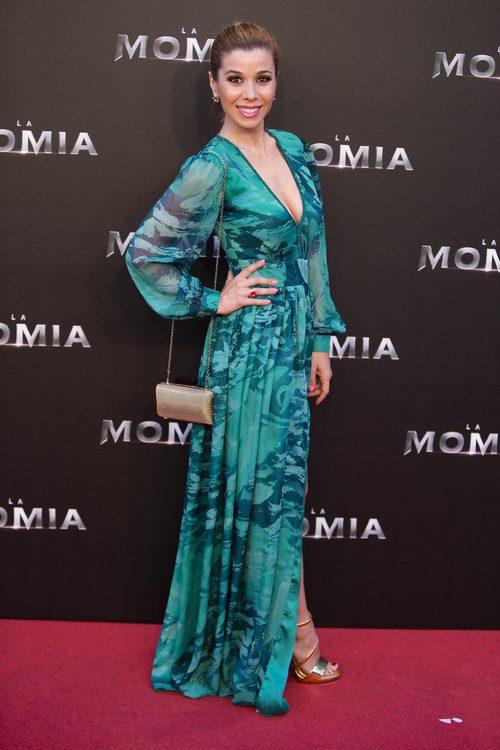 Natalia Rodríguez en la premiere de la Momia