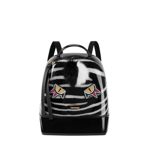 Mochila negra con dibujo de Furla colección Pre-Fall 2017