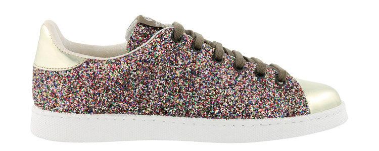 Zapatillas de glitter multicolor de Victoria primavera/verano 2017