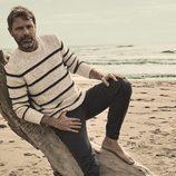 David Ascanio con ropa de inpiración de mar de Mr Musk by Bloomers