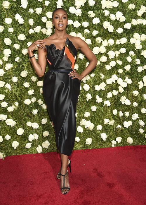 Condola Rashad en la alfombra roja de los Tony Awards 2017