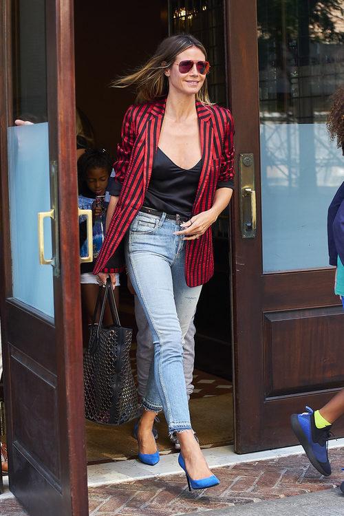 Heidi Klum con un look informal en Nueva York