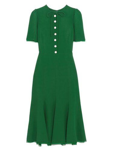 Vestido verde 'Kate Middleton' de la colección otoño/invierno 2016 de Dolce&Gabbana