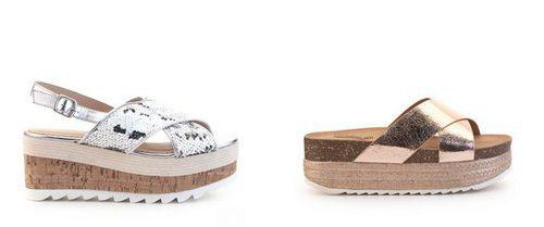 Sandalias con plataforma  de la nueva colección de verano 2017 de Merkal