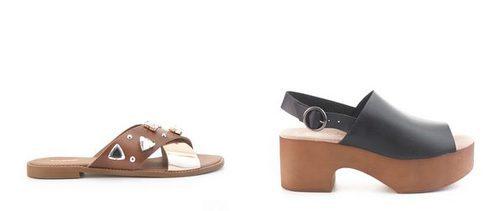 Sandalias y zuecos  de la nueva colección de verano 2017 de Merkal