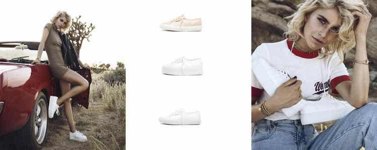 Zapatillas Superga diseñadas por Caro Daur