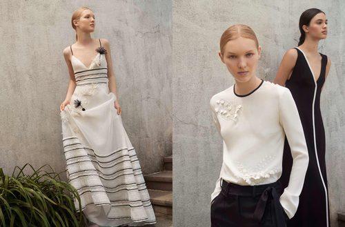 Conjuntos y vestidos en blanco y negro de la Colección Resort 2018 de Carolina Herrera