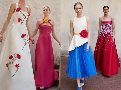 Flores incrustadas en los vestidos de la Colección Resort 2018 de Carolina Herrera