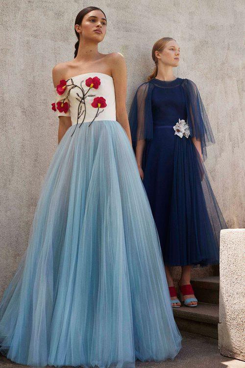 Vestidos de tul  en la Colección Resort 2018 de Carolina Herrera