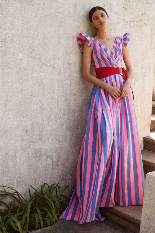 Vestido de rayas de la Colección Resort 2018 de Carolina Herrera