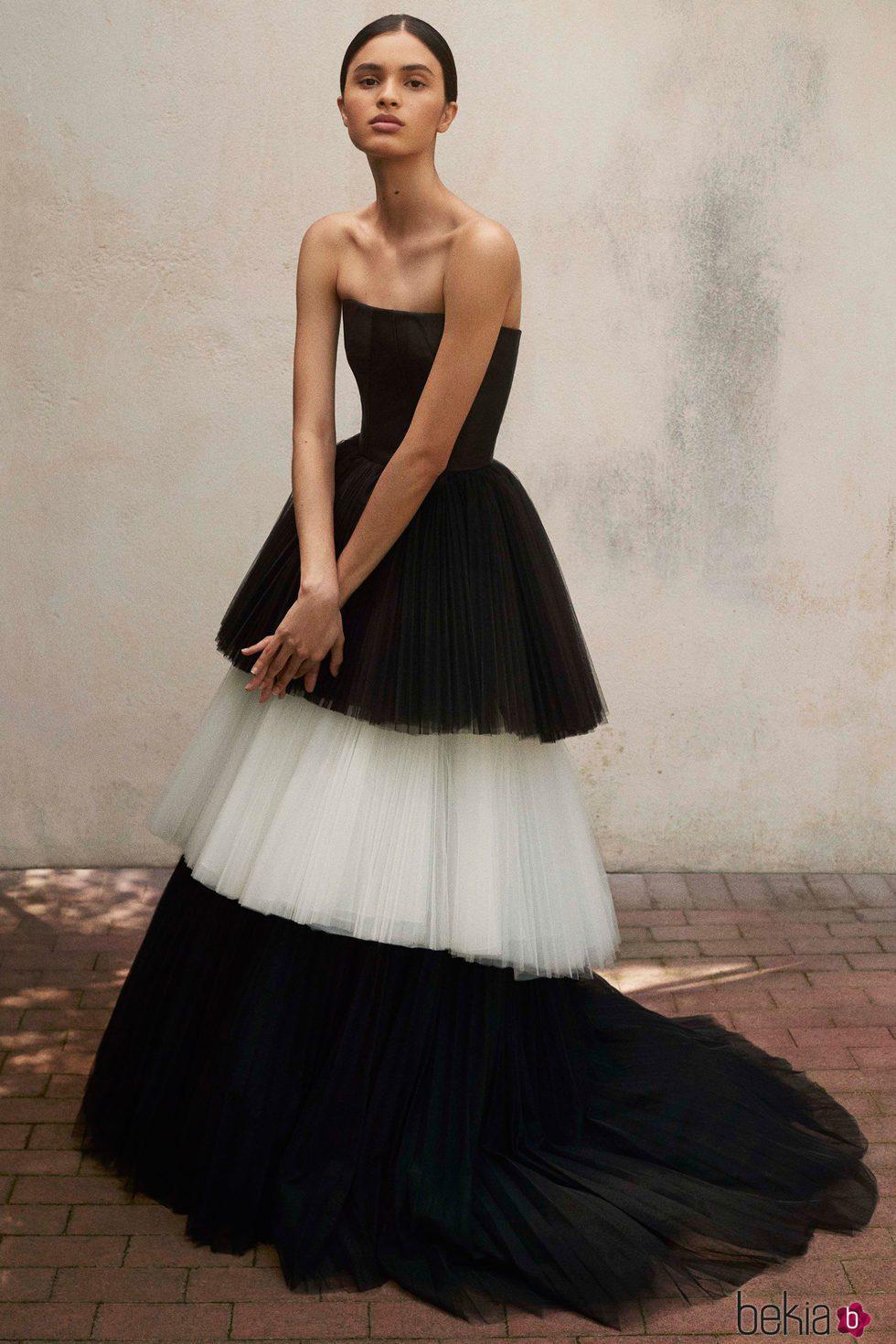 Vestidos blanco y negro 2018