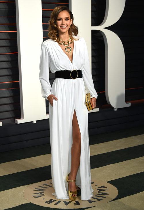 Jessica Alba con un impecable diseño de Roberto Cavalli