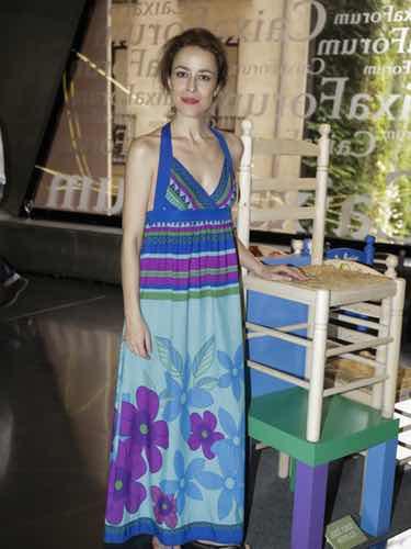 Silvia Abascal con un vestido estampado de algodón