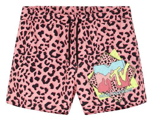 Pantalones cortos de estampado animal rosa de la colección colaborativa 'ASOS x MTV'