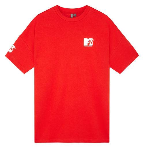 Camiseta roja con logo de MTV de la colección colaborativa 'ASOS x MTV'
