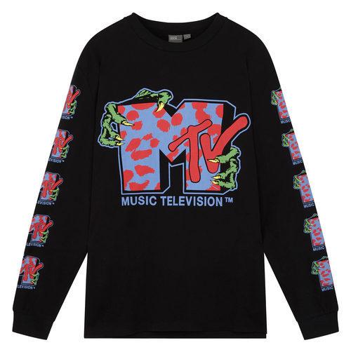 Sudadera negra con logo de MTV de la colección colaborativa 'ASOS x MTV'