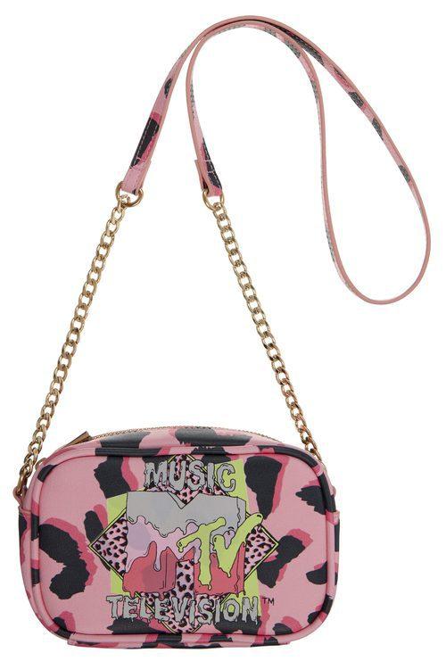 Bolso con estampado animal rosa de la colección colaborativa 'ASOS x MTV'