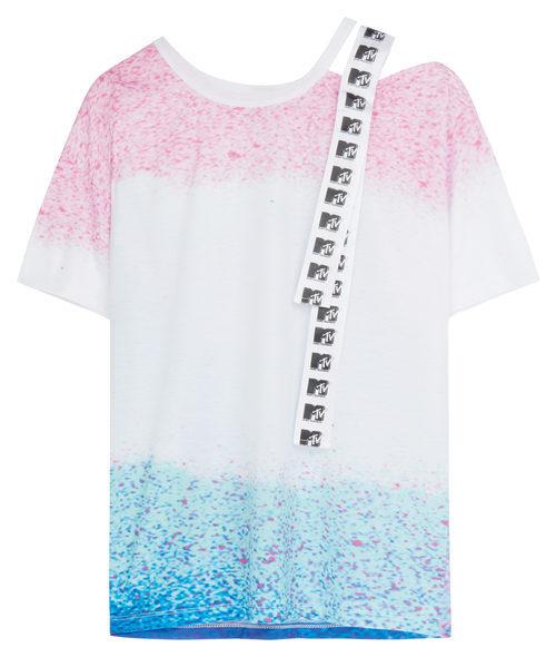 Camiseta tricolor con logo de MTV de la colección colaborativa 'ASOS x MTV'