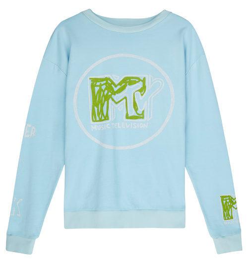 Sudadera azul con logo de MTV de la colección colaborativa 'ASOS x MTV'