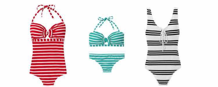 Bañadores y bikini de la colección Esprit croisière de Etam 2017