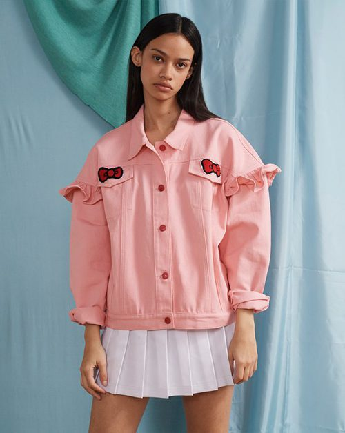 Cazadora denim rosa de la colección de Hello Kitty para Lazy Oaf