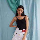 Falda con silueta de Kitty de la colección de Hello Kitty para Lazy Oaf