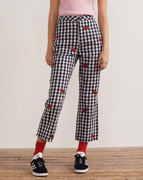 Pantalón con estampado vichy de la colección de Hello Kitty para Lazy Oaf