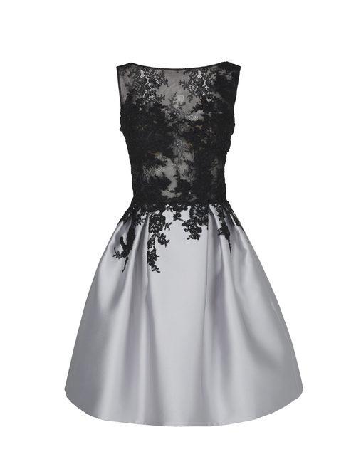 Vestido corto negro de la nueva colección de fiesta de Pronovias 2018