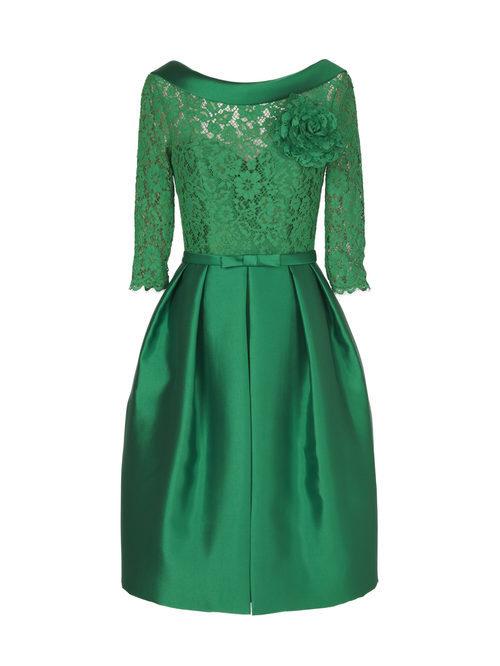 Vestido corto verde de la nueva colección de fiesta de Pronovias 2018