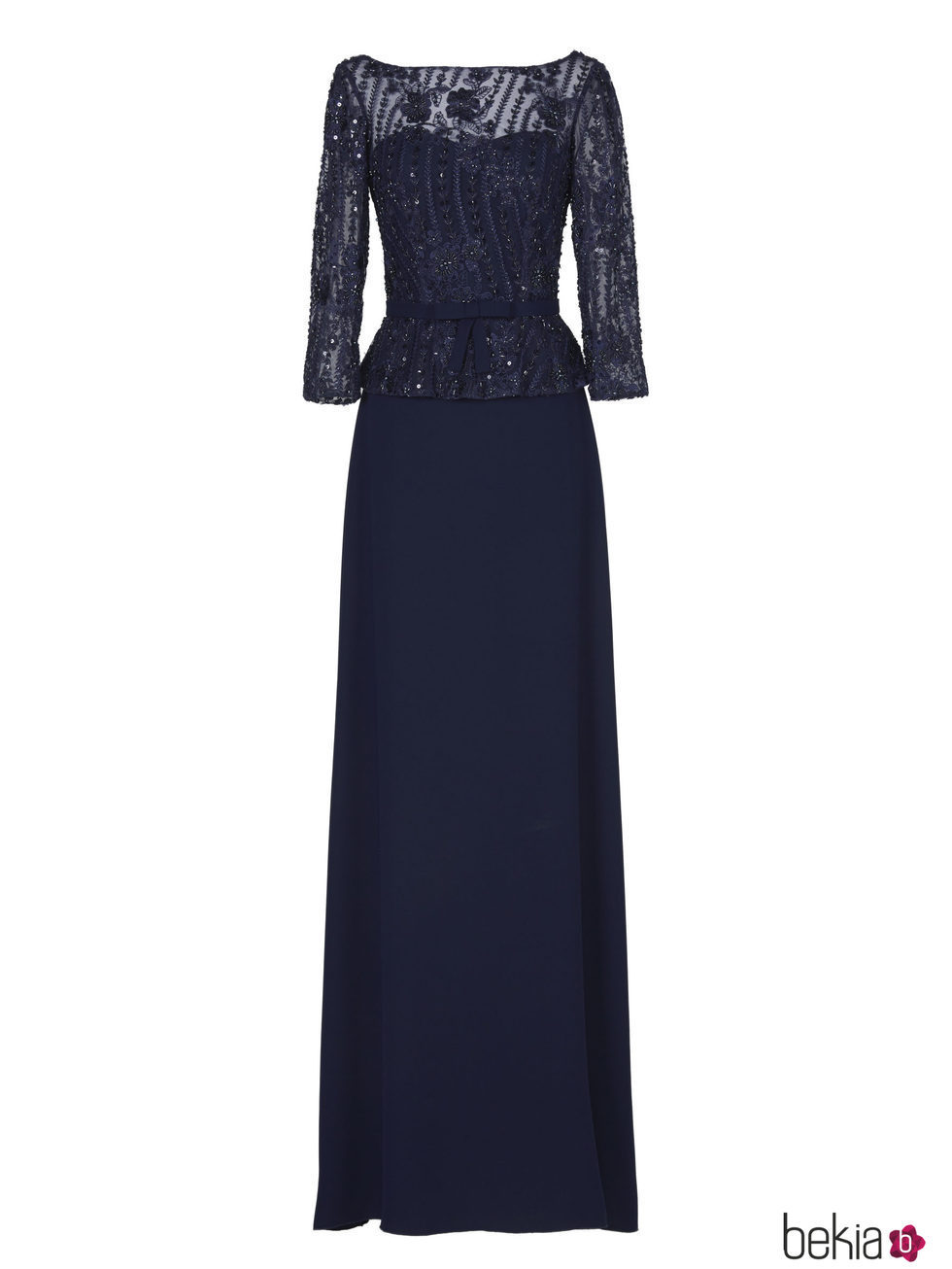 Vestidos de fiesta largos azul oscuro