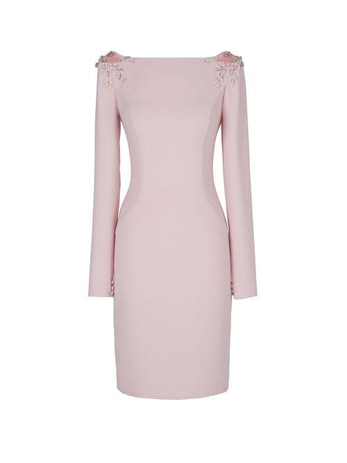 Vestido corto rosa pastel de la nueva colección de fiesta de Pronovias 2018