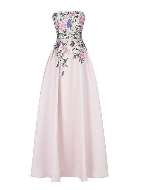 Vestido largo rosa pastel de la nueva colección de fiesta de Pronovias 2018