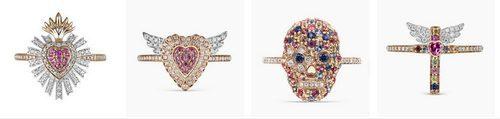 Calaveras y cruces en la nueva colección de joyas de Suárez, 'Frida'