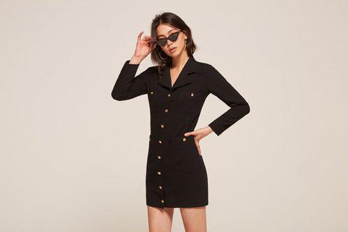 Vestido camisero de la colección vintage 2017 de Reformation