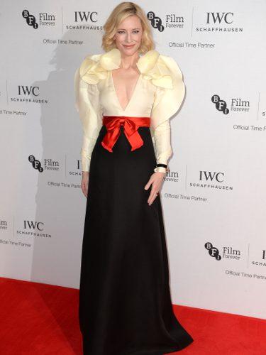 Cate Blanchett con un vestido tricolor en la cena del British Film Institute 2016