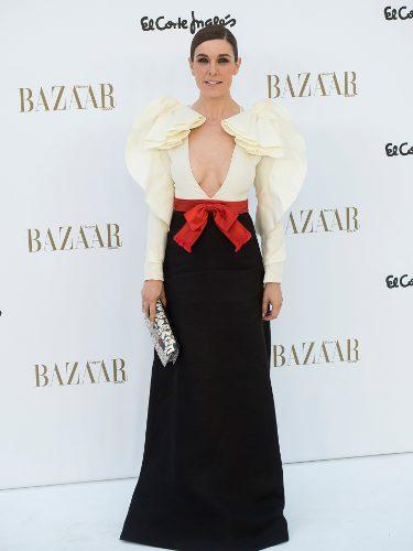 Raquel Sánchez Silva vestida de Gucci en el 150 aniversario de Harper's Bazaar