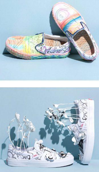 Vans con flores y con dibujos coloridos diseñadas por Marc Jacobs