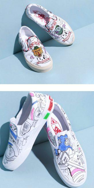 Vans a dos colores diseñadas por Marc Jacobs