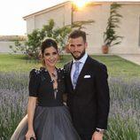 Nacho Fernández y María Cortes en la boda de Lucas Vázquez