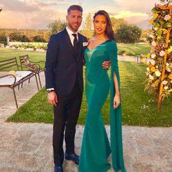 Sergio Ramos Y Pilar Rubio en la boda de Lucas Vázquez