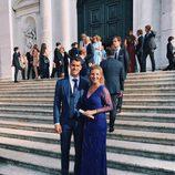 Nuria Trens, la novia del portero del Real Madrid Rubén Yañez en la boda de Morata