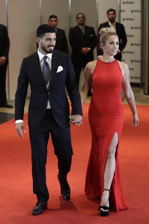 Sofia Balbi, esposa de Luis Alberto Suárez, en la boda de Leo Messi