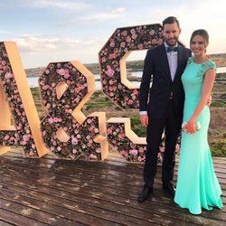 Helen Lindes en la boda de Sergio Tull