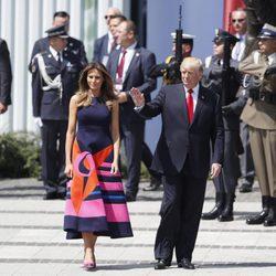 Melania Trump con un diseño Delpozo en Polonia