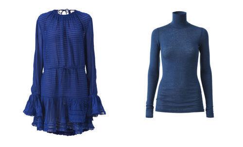 Prendas azules de la colección de H&M y la tienda parisina Colette