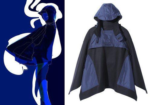 Anorak de la colección de H&M y la tienda parisina Colette