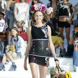 Vestido negro estampado de Desigual de la Fashion Week de Ibiza 2017